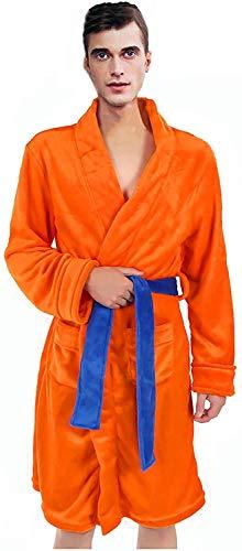 IUTOYYE Peignoir Robe de Bain pour Hommes Pyjama Super Douce Robe de Chambre Châle Col...