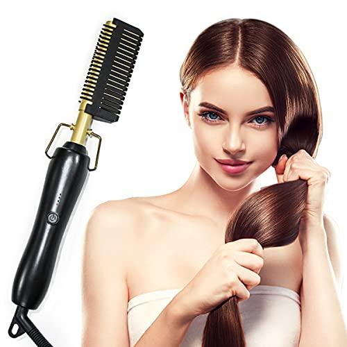 Monlida Peigne à Lisser Peigne Chauffant Brosse Lissante Cheveux, 3 Réglages de Température...