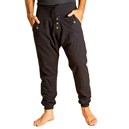 PANASIAM Yogipants 01, Cotton, Black, L