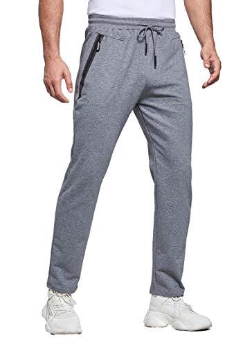 Tansozer Jogging Homme Pantalon Survetement Homme Coton Sport Bas de Jogging Homme Training Pantalon Sudation Jogger Pants Pantalon Running Homme Sportswear Gris XL prix et achat