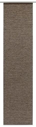 GARDINIA Panneau Japonais (1 Pièce), Opaque, Effet Naturel, Couleur: Bois Teck, 60 x 245 cm (LxH)