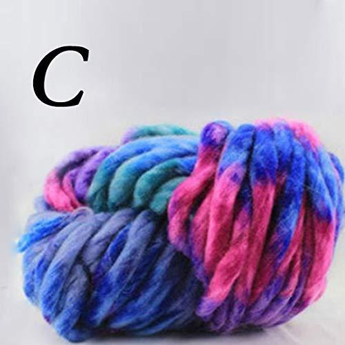 SuoSuo LZWJD Laine grossière Laine islandaise Gros Pull Laine Fil Super Bulky Bras Laine à Tricoter Chapeau Tapis Tapis Main Crochet Fil (Couleur : 3)