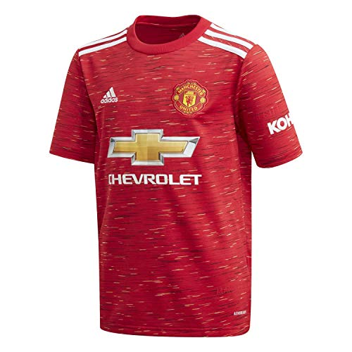 adidas 20/21 MUFC Home Jersey Maillot Domicile Enfant Reared FR: XL (Taille Fabricant: 176)