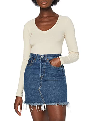 Levi's HR Decon Iconic BF Skirt Jupe, Meet in The Middle, 29 Femme