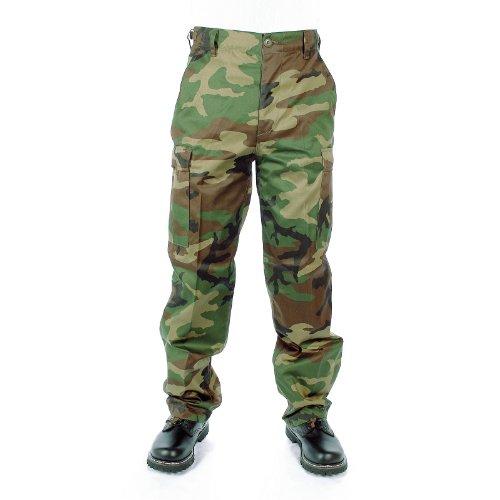 Mil-Tec Pantalon US Ranger woodland , Medium