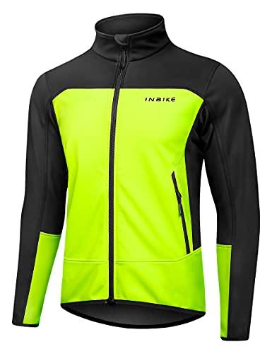 INBIKE Veste Cycliste Homme Hiver Blouson Chaud Polaire Coupe Vent Hydrofuge Avec Capuche Manteau Mi Saison Vtt Velo Vert L prix et achat
