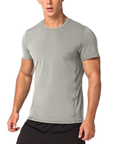 LAPASA T-Shirt Sport Homme Séchage Ultra Rapide Lot de 1/2 Manche Courte Running Musculation...