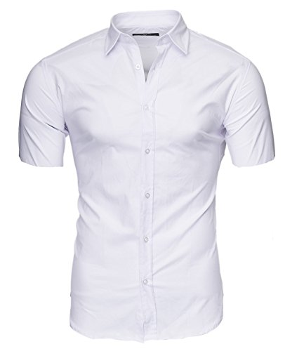 Kayhan Homme Chemise Manches Courtes, Caribic White (M)