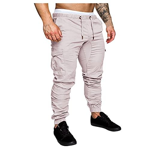 BaZhaHei Nouveau Pantalons Cargo Homme Slim Grande Taille Pantalon de Sport Bootcut Pantalon Jogging Casual Workout Pantalon de Travail Streetwear avec Grandes Poches Latérales