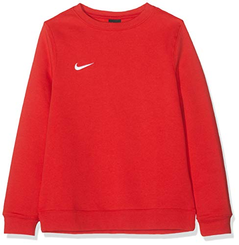 Nike - Team Club 19 Crew - Sweat-shirt - Mixte enfant - Rouge (University Red/White 657) - Taille: M