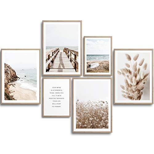 Monoko® Lot de 6 posters de salon - Ensemble d'images de...