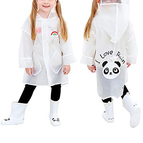 Queta Vêtement d'Imperméables, Imperméable pour Enfants, Poncho pour Enfants, Imperméable Panda, Raincoat, Poncho de Dessin de Pluie Animé pour Garçon Et Fille XXL