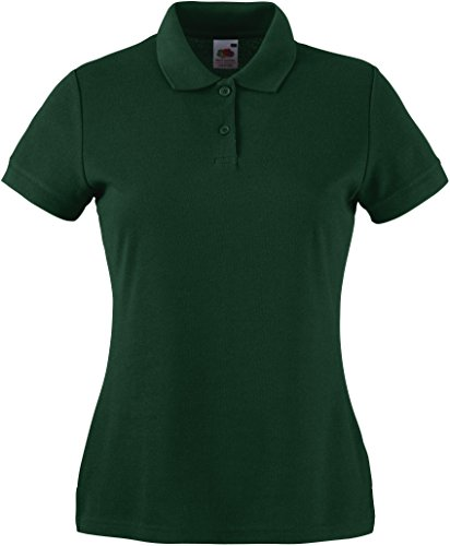 Fruit of the Loom - SS092M - Polo - Femme - Vert - Green (Bottle Green) - 44 (Taille fabricant:...