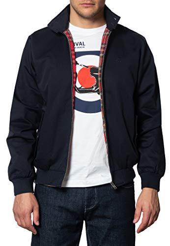 Merc of London Harrington,Jacket Blouson, Bleu (Marine), Medium (Taille Fabricant: M) Homme