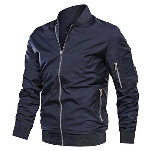 KEFITEVD Hommes Automne Mince Baseball Cargo Vestes Printemps Outwear Dogfight Bomber Veste de...