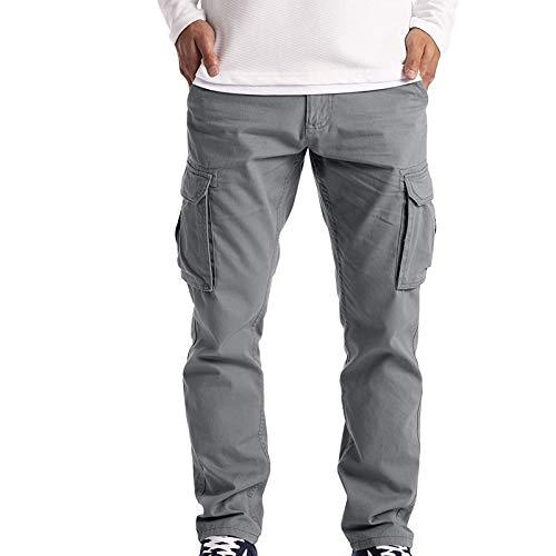 Homme Pantalon Cargo Militaire Sport Pantalons de Jogging Fit Casual avec Zippées Long Pants Couleur Unie Durables Multi Poches Les Loisirs Activewear Training de Survêtement