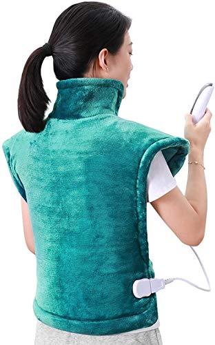 Coussin chauffant 60 * 90cm pour le dos, les épaules et le cou Surface ultra-douce Chauffage rapide avec température réglable Garder au chaud par temps froid