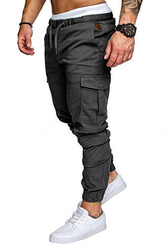 Socluer Homme Pantalons Casual Jeans Sport Jogging Slim Fit Militaire Cargo Montagne Baggy...