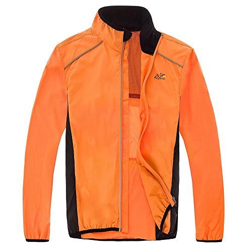 MEROURII Cyclisme Veste, Imperméable Cyclisme Veste Manches Longues Coupe-Vent Anti-pluie...