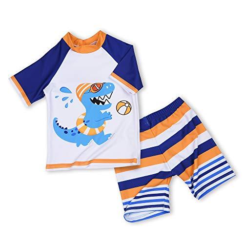 AMZTM Dinosaure Garcon Maillot de Bain Deux-pièces Combinaison Anti-UV Bébé Enfant T-Shirt...
