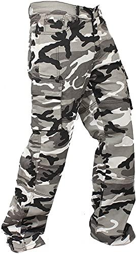 newfacelook Hommes Jeans Moto Cargo Renforcé avec Protection Aramid Doublure Pantalon - Multicolor - 32W / 30L