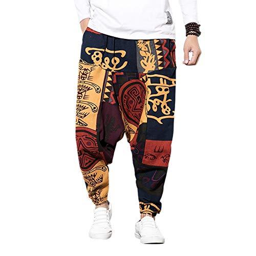 MY Household Pantalon Homme avec imprimé, Unisexe Sarouel avec Poche Pantalon Sarouel pour...