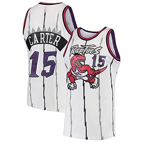 KKSY Maillot Vince Carter # 15 Maillot Rétro NBA Maillot de Basketball des Raptors de Toronto,B,M