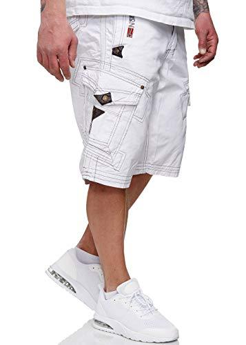 Geographical Norway bermuda shorts Perle Men, Couleur:White;Tailles de pantalons:XXL