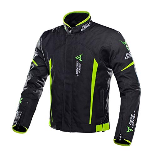 Veste de Moto Sport avec Protections Homologuées CE Autocollant Réfléchissant, Blouson de...