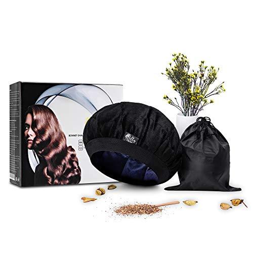 Bonnet chauffant pour soins capillaires 100% naturel aux graines de lin-Soins de cheveux...
