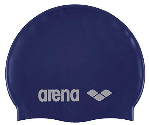 Arena Classic Silicone Bonnet de piscine Mixte Adulte, Bleu/Argent, Taille Unique prix et achat