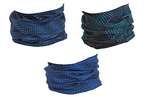 Hilltop Lot de 3 écharpes multifonctions Echarpe tube pour homme, femme et enfant - Tour de...
