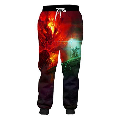 Sarouel Hommes Seigneur des Anneaux Pantalons 3D Anneaux Imprimés Costumes Hip Hop Lord of The...