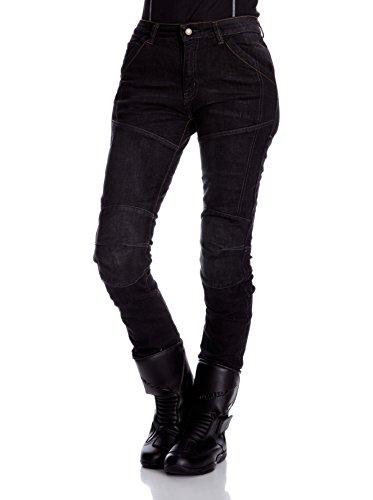 Roleff Racewear Jean Aramide Femme Pantalon Moto, Noir, 31