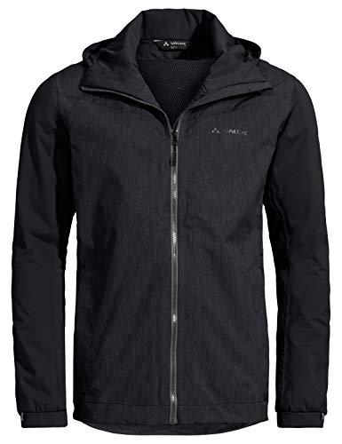 VAUDE Men's Jacket II Veste de Pluie performante pour Les Cyclistes urbains Homme, Black, FR : M (Taille Fabricant : M)