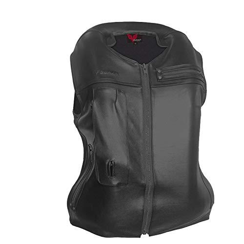 haozai Gilet Airbag Anti-Chute Gilet,Airbag Moto en Cuir De Vache Airbag De Déclenchement Mécanique De 0,5 Seconde Convient pour La Moto en Plein Air Et L'équitation