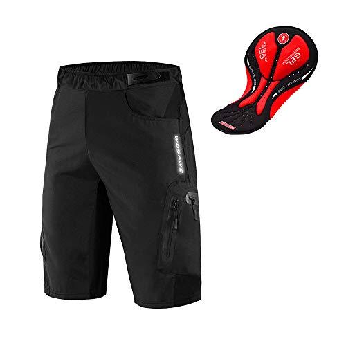 WOSAWE Shorts de Vélo pour Hommes Respirants 3D Gel Rembourrés VTT sous-vêtement Séchage...