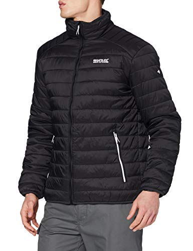 Regatta Freezeway II Veste matelassée Homme Légère, Déperlante et isolante Baffled/Quilted Jackets Homme Black FR: XL (Taille Fabricant: XL)