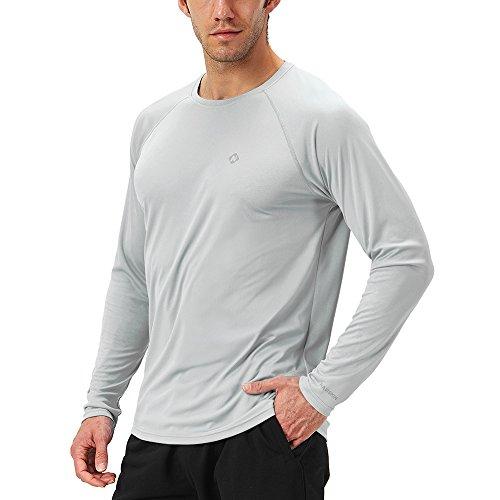 NAVISKIN Protection Le Soleil Anti- UV T-Shirt à Manches Longues pour Homme Gris Taille XXL