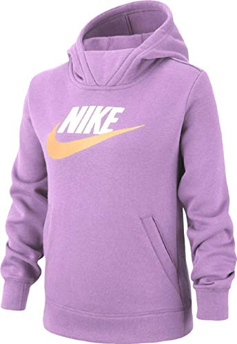Nike G NSW PE Pullover Sweat-Shirt Fille, Violet Star/(White), FR : S (Taille Fabricant : S)