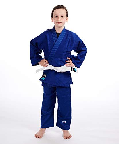 Ippon Gear Future Kimono Judo Unisex-Youth, Bleu, 120 cm