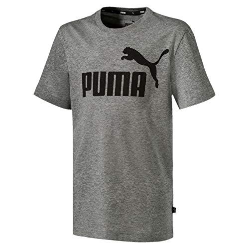 Puma ESS Logo Tee B T- T-Shirt,Garà§on-Gris (Medium Gray Heather), 16 ans (Taille Fabricant:176)