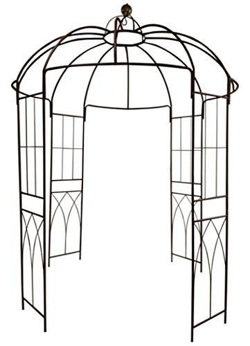 Outour® Tonnelle en fer en forme de cage à oiseaux, support pour plantes et fleurs grimpantes, jardin et extérieur
