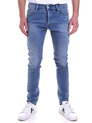DIESEL D- Luster L.30 Pantaloni Jeans, 01 Blue Denim, 38 Homme