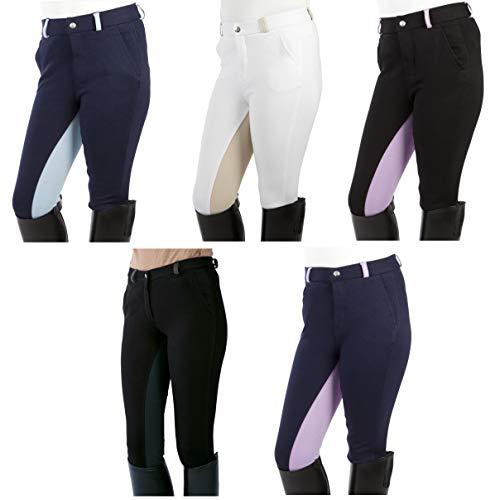PFIFF Enfant Pantalon d'équitation Noir Noir/Violet 8-9 Ans