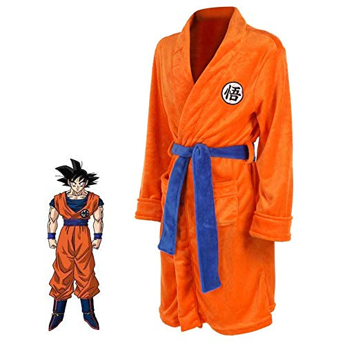 Dragon Ball Z Naruto Attack on Titan Peignoir Cosplay Son Goku Costume Adulte Night Bath Robe Pyjamas Pyjamas Maillot de Bain
