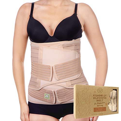 Emballage de récupération du soutien du ventre post-partum 3 en 1 - Ventre pour la grossesse, la maternité et la postnatalité - Ventre ceinture (One Size, Classic Ivory)