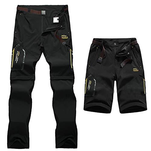 7VSTOHS Hommes Zip Off Convertible Pantalon de randonnée à séchage Rapide Respirant Léger Pantalon de randonnée décontracté d'extérieur Amovible Short