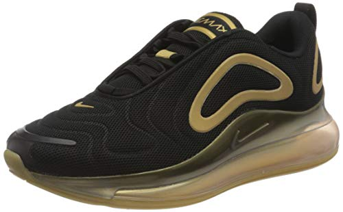 Nike AIR Max 720, Chaussure de Course Homme, Black Metallic Gold Metallic Silver, 48.5 EU
