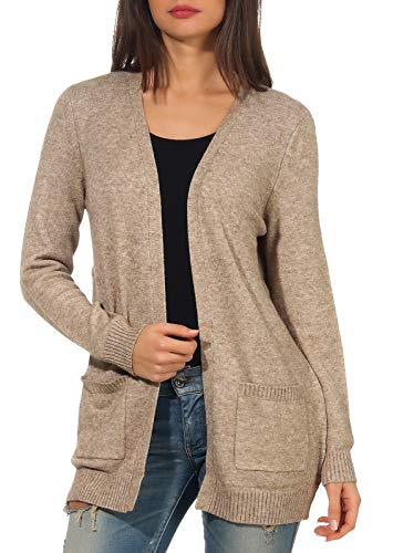 Only NOS 15174274 Gilet, Beige (Beige Detail: W. Mélange), 44 (Taille Fabricant: X-Large)...